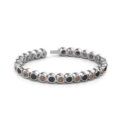 Tennisarmband Delma 585 witgoud bruine diamant 7.00 crt