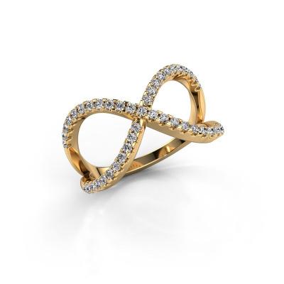 Foto van Ring Alycia 2 585 goud zirkonia 1.3 mm