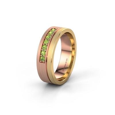 Trouwring WH0312L16AM 585 rosé goud peridoot ±6x1.7 mm
