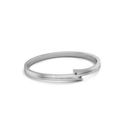 Armband Roxane 950 platina zwarte diamant 0.072 crt
