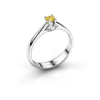 Engagement ring Janna 1 585 white gold yellow sapphire 3.4 mm