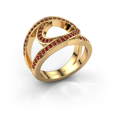 Ring Louise 585 gold ruby 1.2 mm