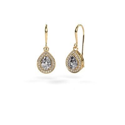 Picture of Drop earrings Beverlee 1 375 gold zirconia 7x5 mm
