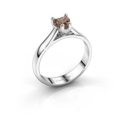 Verlobungsring Sam Heart 950 Platin Braun Diamant 0.50 crt