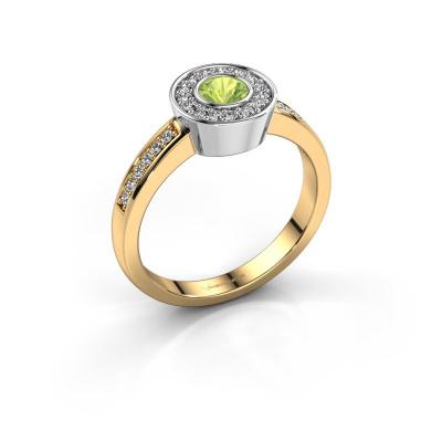 Ring Adriana 2 585 goud peridoot 4 mm