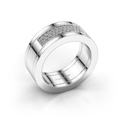 Foto van Ring Marita 1 950 platina zirkonia 1.1 mm