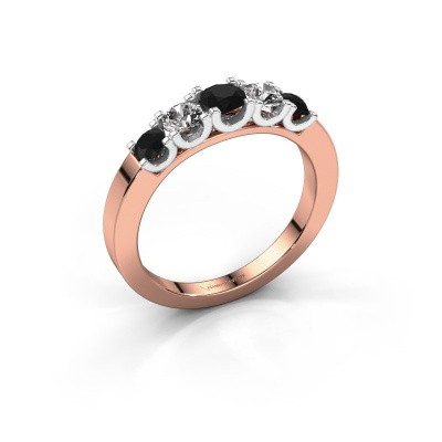 Picture of Engagement ring Selina 2 585 rose gold black diamond 0.78 crt