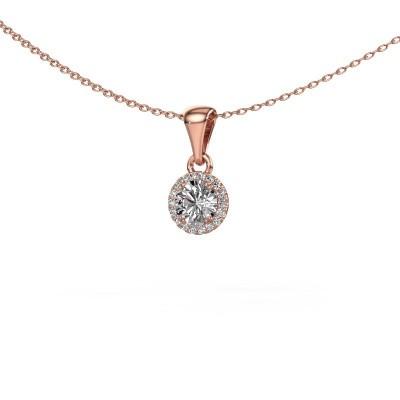 Hanger Seline rnd 375 rosé goud diamant 0.59 crt