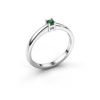Promise ring Eline 1 925 zilver smaragd 3 mm