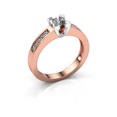 Aanzoeksring Anne 2 585 rosé goud diamant 0.30 crt