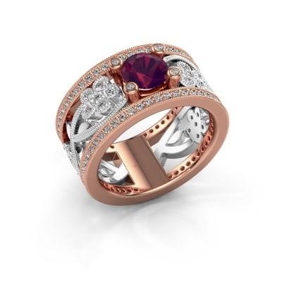 Picture of Ring Severine 585 rose gold rhodolite 6 mm