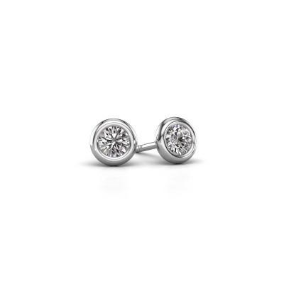 Foto van Oorstekers Lieke RND 950 platina diamant 0.50 crt