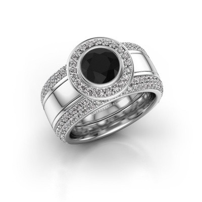 Foto van Ring Roxie 950 platina zwarte diamant 2.26 crt