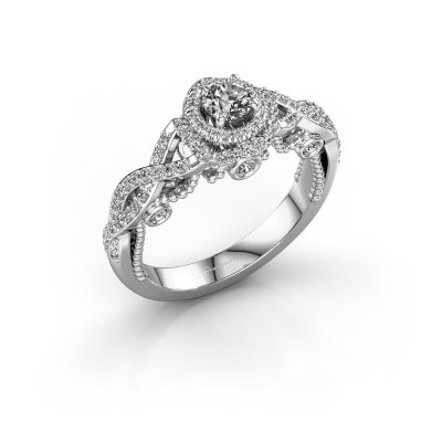 Foto van Verlovingsring Leora 950 platina diamant 0.68 crt