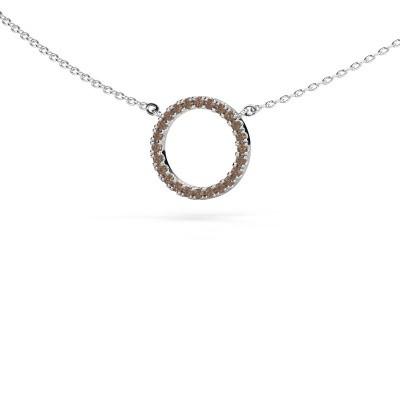 Anhänger Circle 925 Silber Braun Diamant 0.18 crt