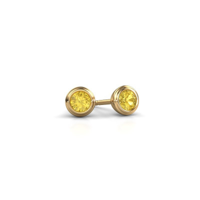 Foto van Oorstekers Shemika 585 goud gele saffier 3.4 mm
