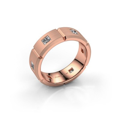 Heren ring Steve 375 rosé goud lab-grown diamant 1.02 crt