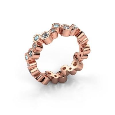 Foto van Ring Tessa 375 rosé goud diamant 0.675 crt