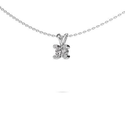 Foto van Hanger Fleur 925 zilver diamant 0.30 crt