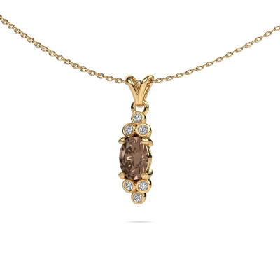 Foto van Hanger Lucy 2 375 goud bruine diamant 0.89 crt