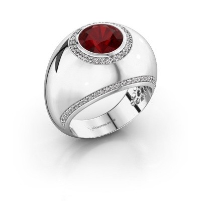 Ring Roxann 585 white gold ruby 8 mm