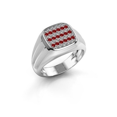 Photo de Bague pinky Robbert 375 or blanc rubis 1.4 mm