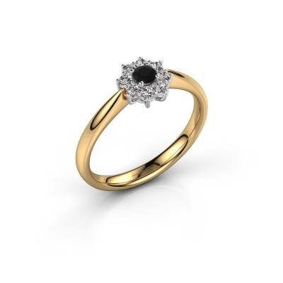 Picture of Engagement ring Carolyn 1 585 gold black diamond 0.12 crt