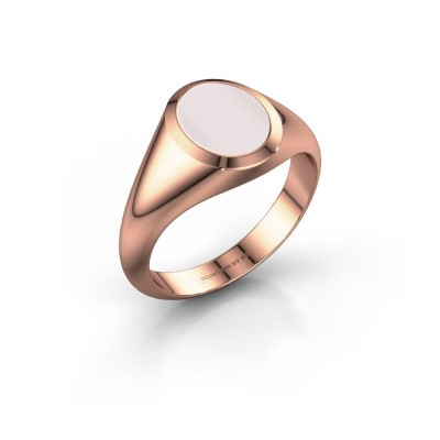 Signet ring Evon 1 375 rose gold red sardonyx 10x8 mm