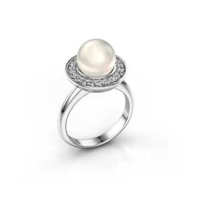 Ring Sarah 925 zilver witte parel 9 mm