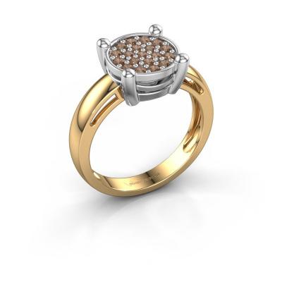 Ring Dina 585 goud bruine diamant 0.342 crt