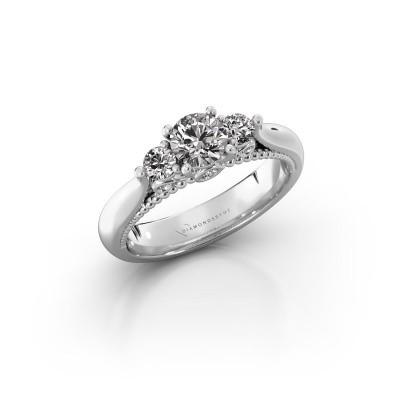 Verlovingsring Tiffani 950 platina lab-grown diamant 0.74 crt