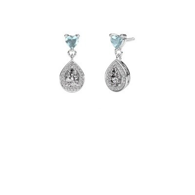 Picture of Drop earrings Susannah 950 platinum zirconia 6x4 mm