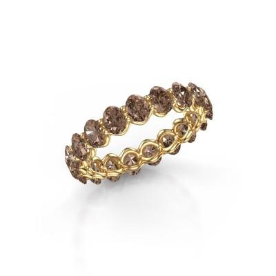 Ring Kirsten OVL 4x3 375 goud bruine diamant 2.85 crt