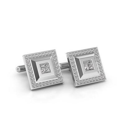 Foto van Manchetknopen Joris 585 witgoud diamant 1.06 crt