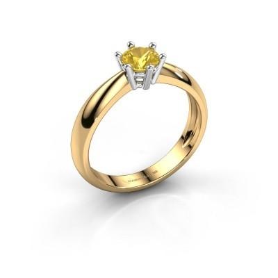 Verlovingsring Fay 585 goud gele saffier 5 mm