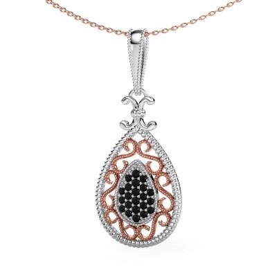 Anhänger Tammie 585 Weißgold Schwarz Diamant 0.324 crt