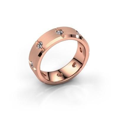 Herren ring Irwin 375 Roségold Lab-grown Diamant 0.64 crt