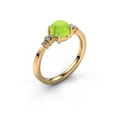Ring Regine 585 goud peridoot 6 mm