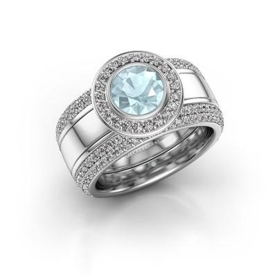 Picture of Ring Roxie 950 platinum aquamarine 6.5 mm