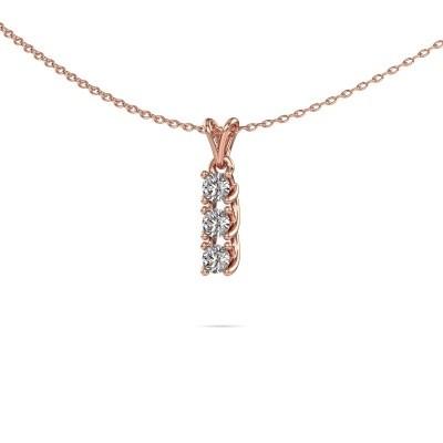 Foto van Hanger Fenna 375 rosé goud diamant 0.30 crt