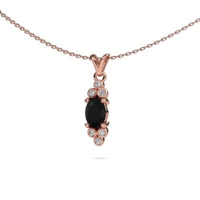 Foto van Hanger Lucy 2 375 rosé goud zwarte diamant 1.05 crt