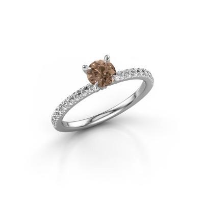 Foto van Verlovingsring Crystal rnd 2 950 platina bruine diamant 0.680 crt