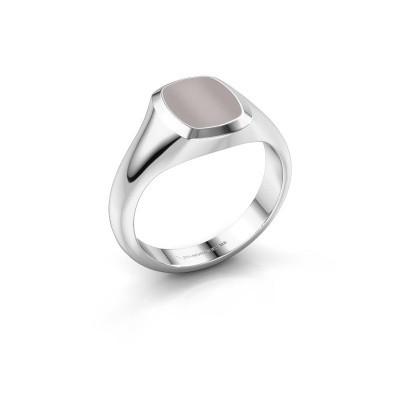 Foto van Pink ring Benjamin 1 925 zilver rode lagensteen 10x8 mm
