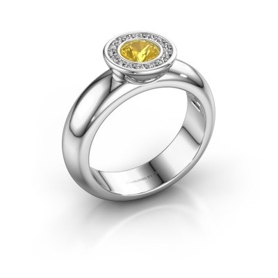 Picture of Stacking ring Anna 585 white gold yellow sapphire 5 mm