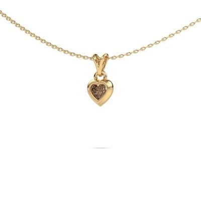 Foto van Hanger Charlotte Heart 585 goud bruine diamant 0.25 crt