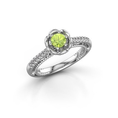 Picture of Engagement ring Abbey 925 silver peridot 4.2 mm