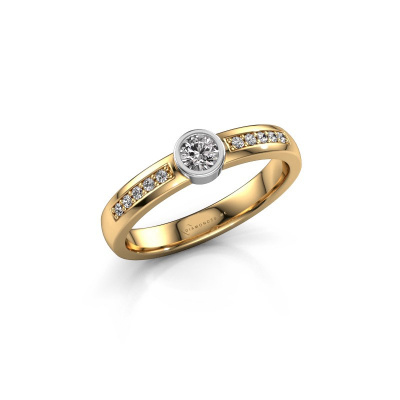 Engagement ring Ise 2 585 gold lab grown diamond 0.275 crt