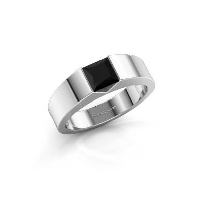 Foto van Verlovingsring Arlena 1 925 zilver zwarte diamant 0.48 crt