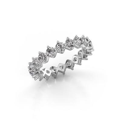 Photo de Bague superposable Janie 3.0mm 585 or blanc diamant synthétique 2.00 crt