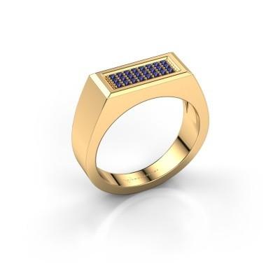 Herrenring Dree 6 375 Gold Saphir 1.1 mm